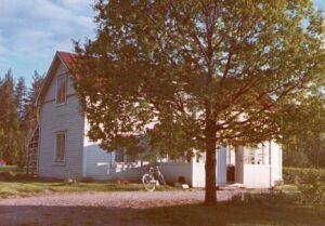 Kiponniemen vanha päärakennus alkuperäisessä värityksessään.